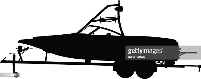 Boat Trailer Silhuette Vector Art | Getty Images