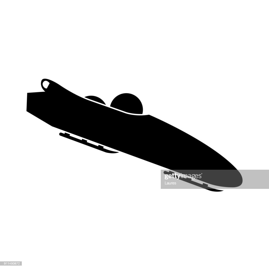 Bobsled. Teams of 2. Icon on white background