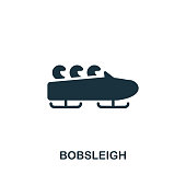 Bobsleigh icon. Premium style design from winter sports icon collection. UI and UX. Pixel perfect Bobsleigh icon for web design, apps, software, print usage.