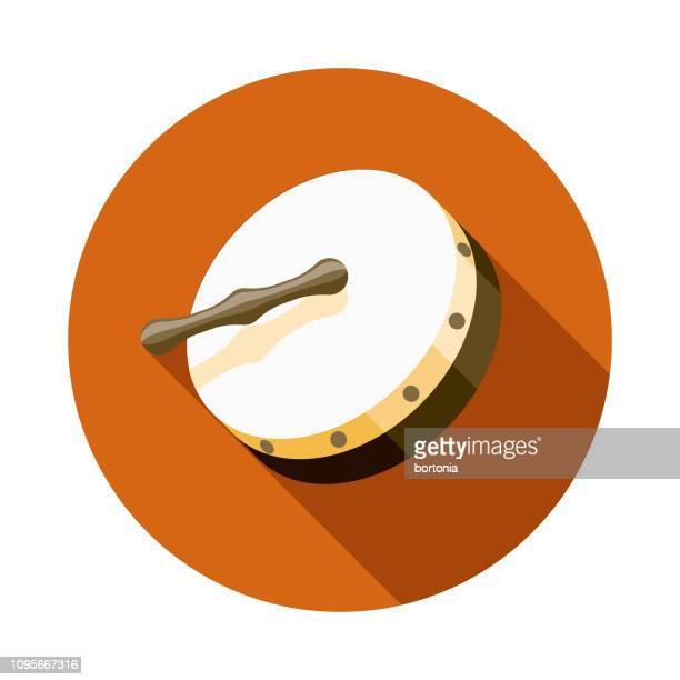 bodhrán ireland icon - percussion mallet stock illustrations