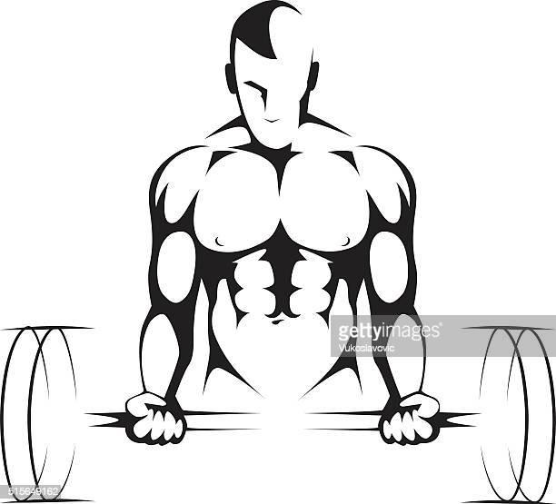 body builder gym symbol - leisure facilities stock illustrations, clip art, cartoons, & icons