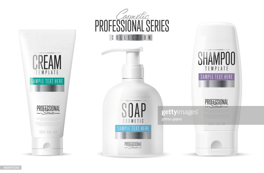 Body care, professional series. Vector template.