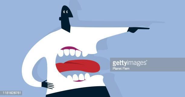 illustrazioni stock, clip art, cartoni animati e icone di tendenza di body language - estremismo