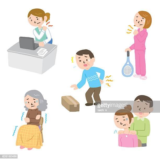 12 肩こり Stock Illustrations Clip Art Cartoons Icons Getty Images