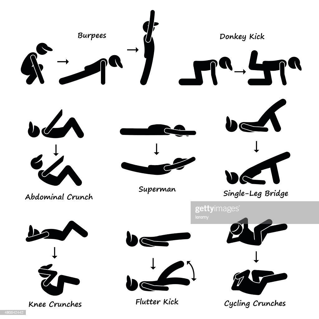 Body Workout Exercise Fitness Training (Set 3) Pictogram