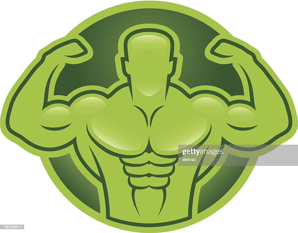 Bodybuilder model illustration