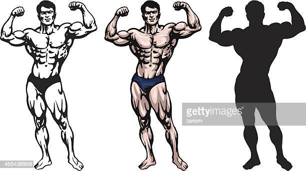 singer - bodybuilding stock-grafiken, -clipart, -cartoons und -symbole