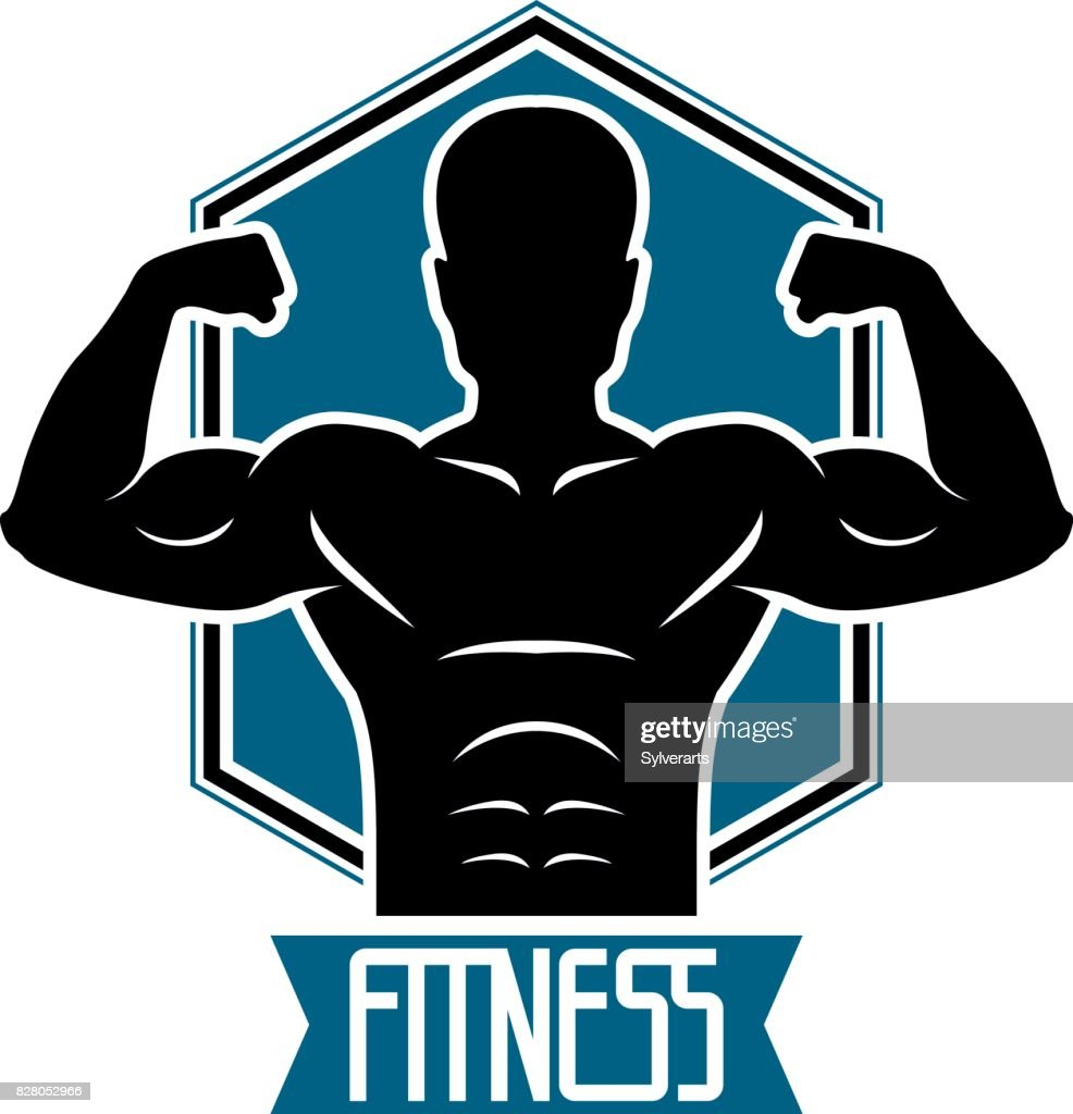 Bodybuilding Und Fitness Sport Symbol Vorlagen ...