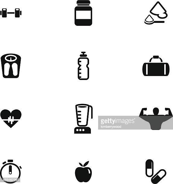 Bodybuilding Icon Set