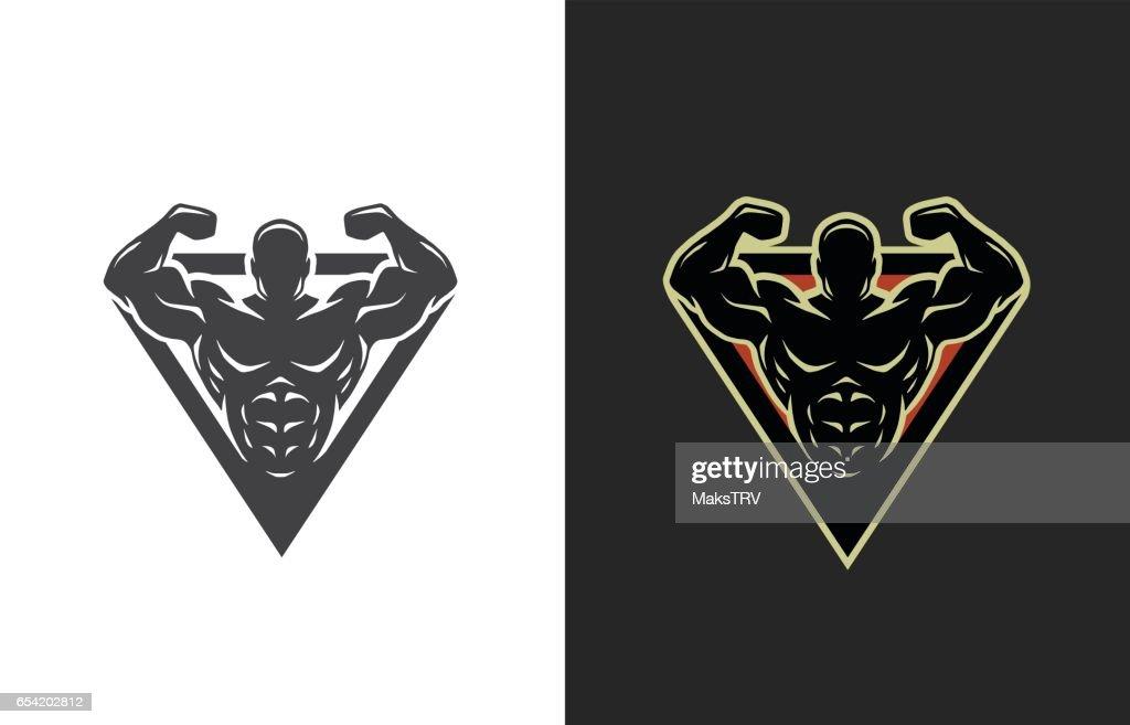 Bodybuilding, logo, two options.
