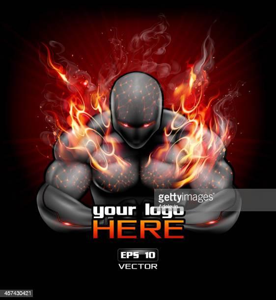 ilustraciones, imágenes clip art, dibujos animados e iconos de stock de póster bodybuilding diseño - entrenamiento de fuerza