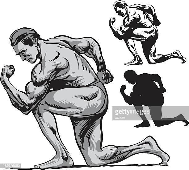 bodybuilding - body building stock illustrations, clip art, cartoons, & icons