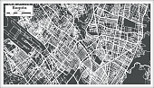 Bogota Colombia City Map in Retro Style. Outline Map.