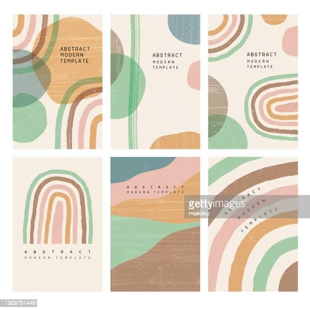 boho rainbow templates - rainbow stock illustrations