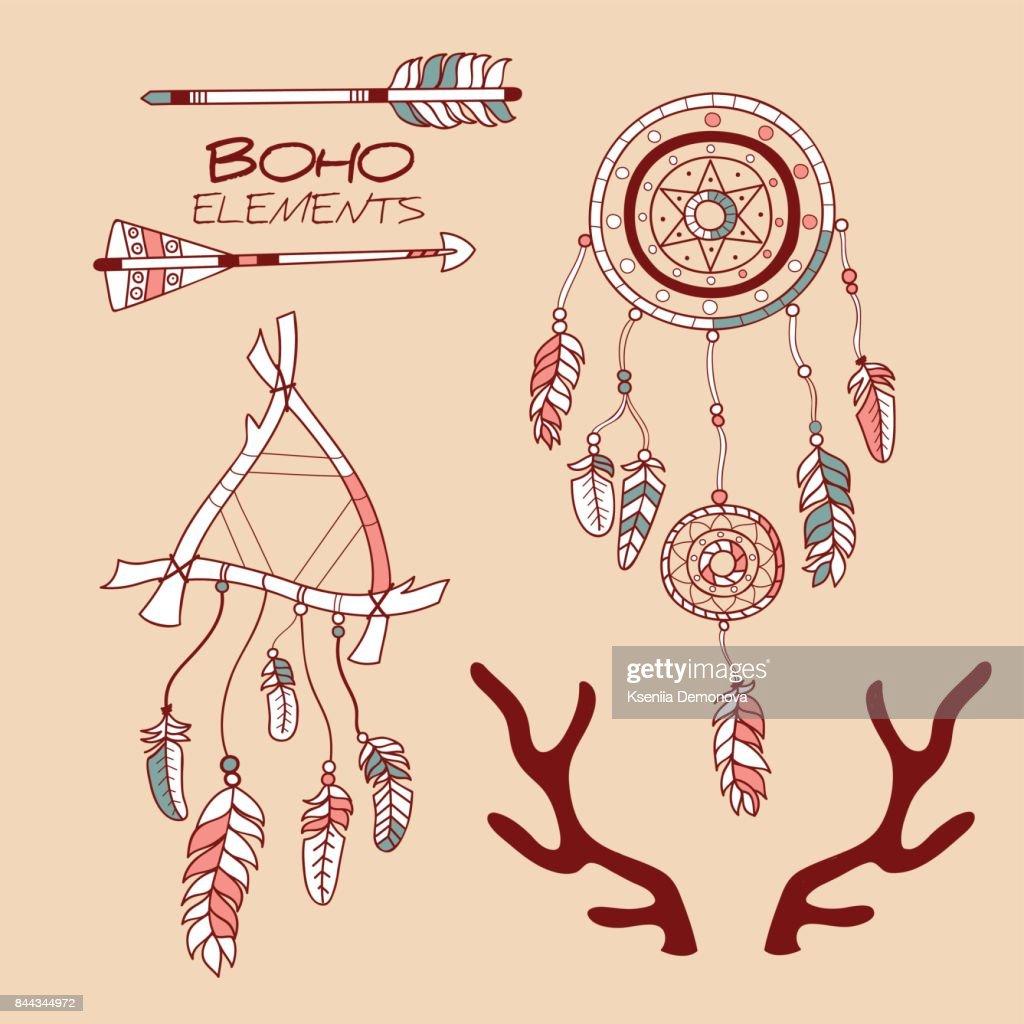 Boho Style Decorative Symbols