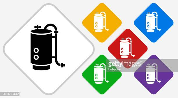 boiler color diamond vector icon - boiler stock illustrations, clip art, cartoons, & icons