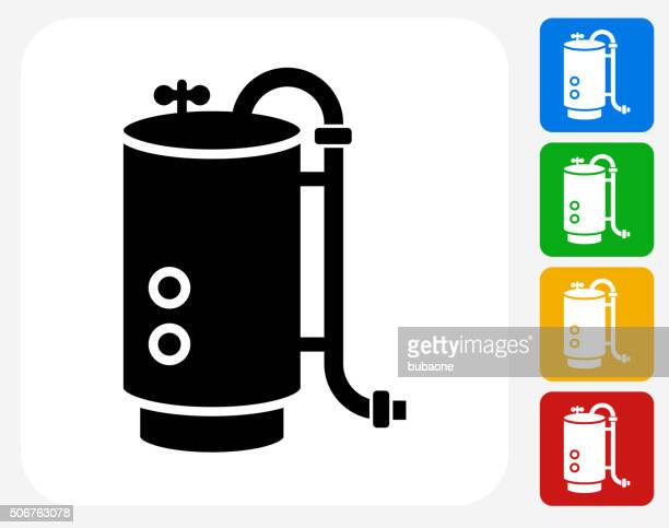 boiler icon flat graphic design - boiler stock illustrations, clip art, cartoons, & icons