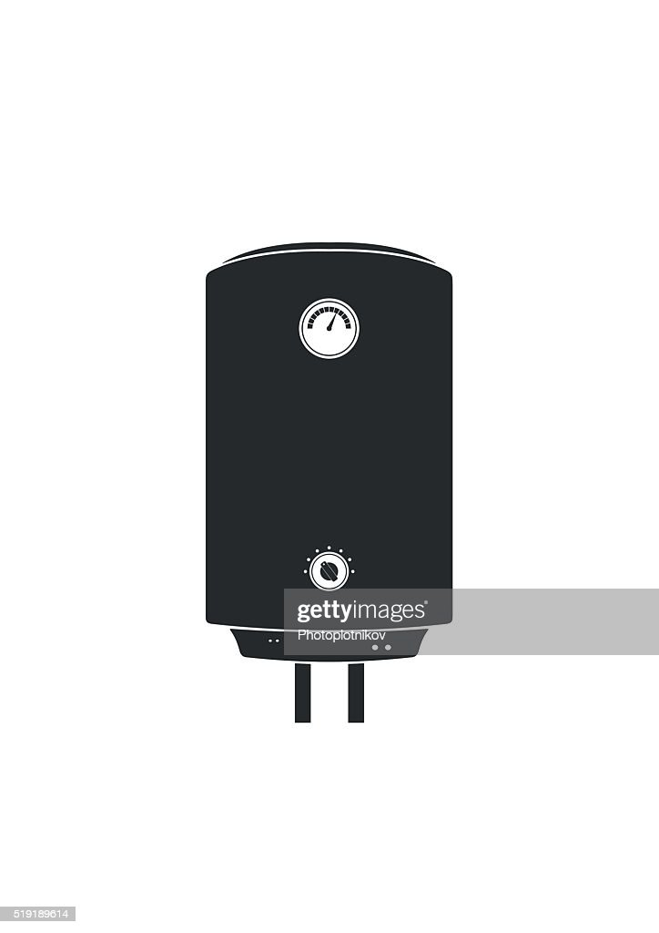 Boiler Icon flat style isolated on white background wish shadow.