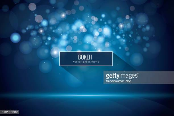 bokeh and blur vector abstract background - defocussed stock illustrations