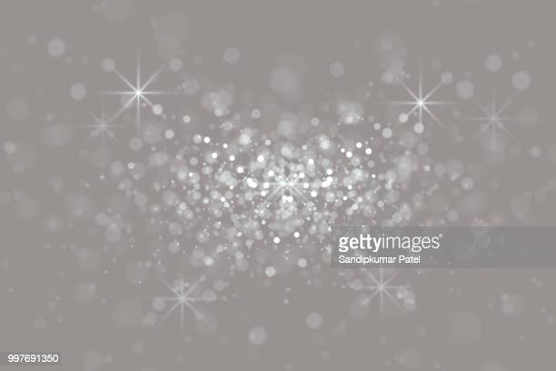 bokeh light grey background - illuminated stock illustrations