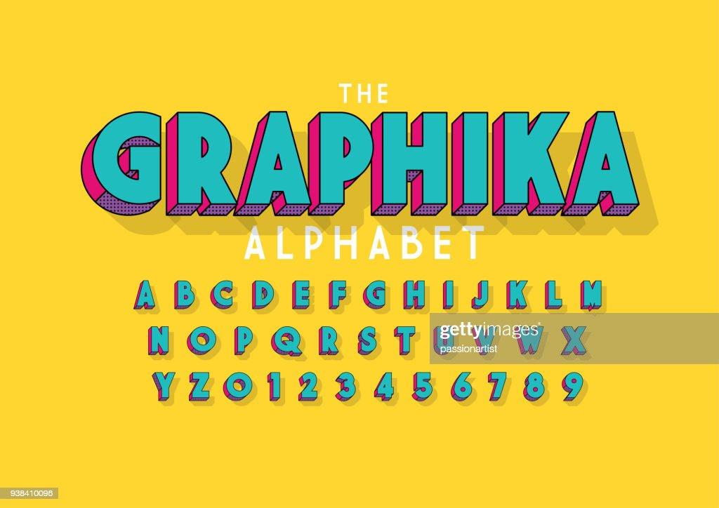 Bold alphabet