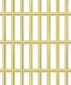 Bold golden jail bars pattern. Prison cell seamless vector.