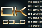 Boldest golden letters with shining diamonds