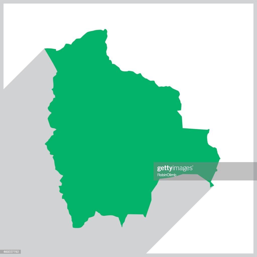 Bolivia Green map Icon : Vector Art