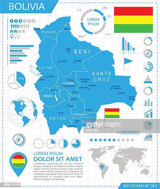 Bolivia - infographic map - Illustration