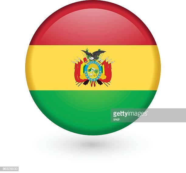 Bolivian flag vector button