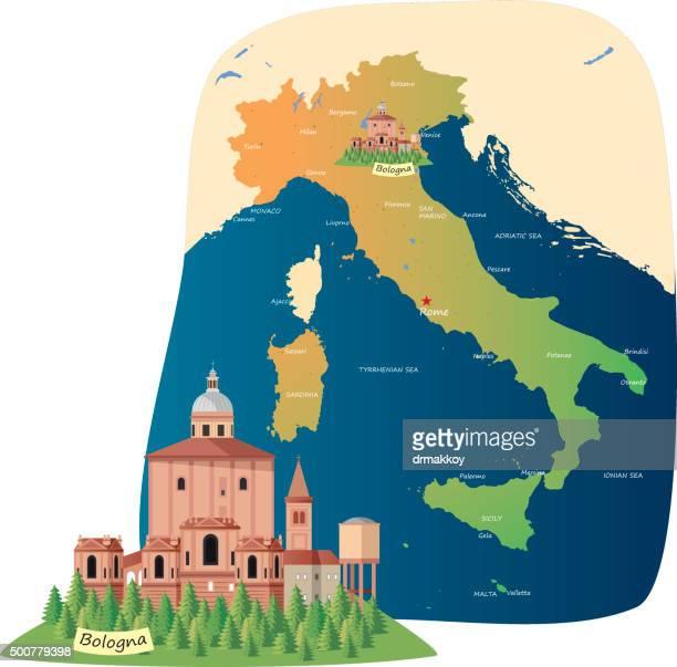 bologna - valle d'aosta stock illustrations, clip art, cartoons, & icons
