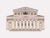 Bolshoy Theatre building. Moscow landmark.