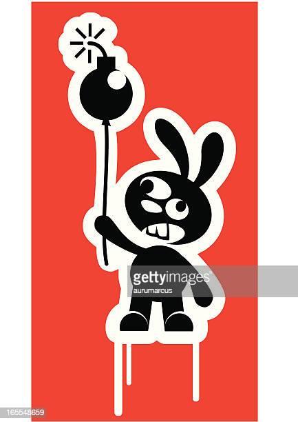 ilustrações de stock, clip art, desenhos animados e ícones de coelhinho da bomba - hip hop