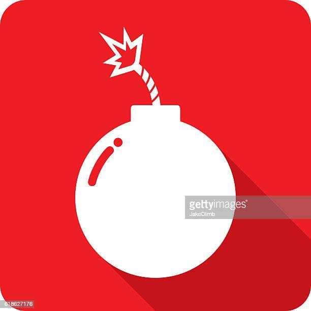 ilustraciones, imágenes clip art, dibujos animados e iconos de stock de bomb icon silhouette - bomba