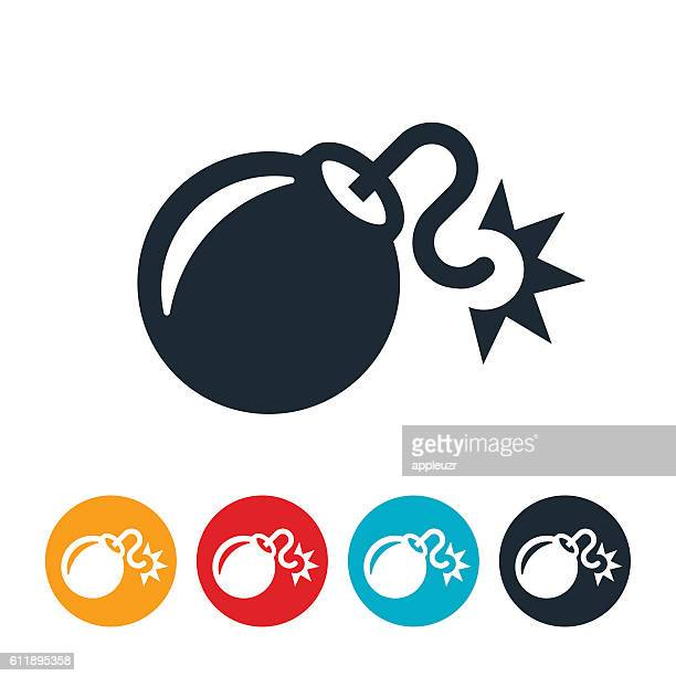 bomb icon - igniting stock illustrations