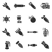 Bombs icons set