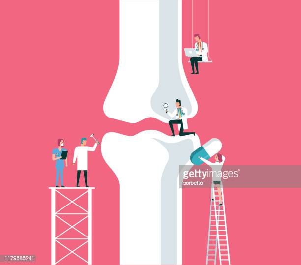 bone - pain stock illustrations