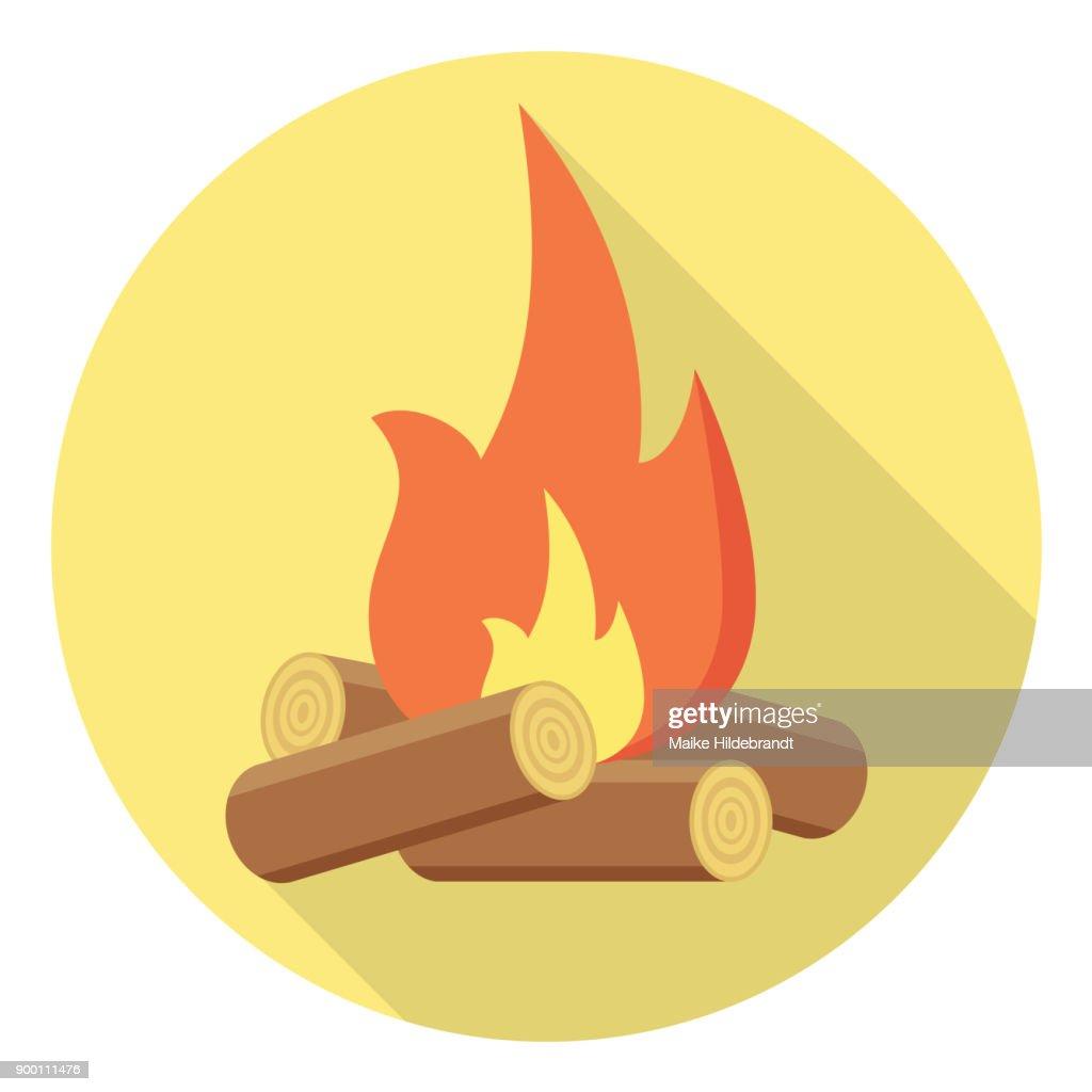 bonfire Flat Design