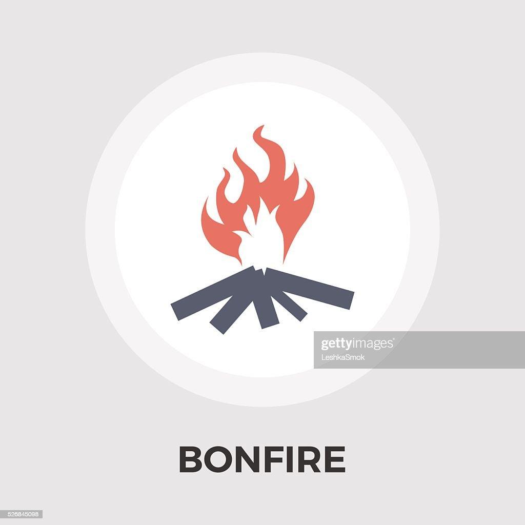 Bonfire Vector Flat Icon