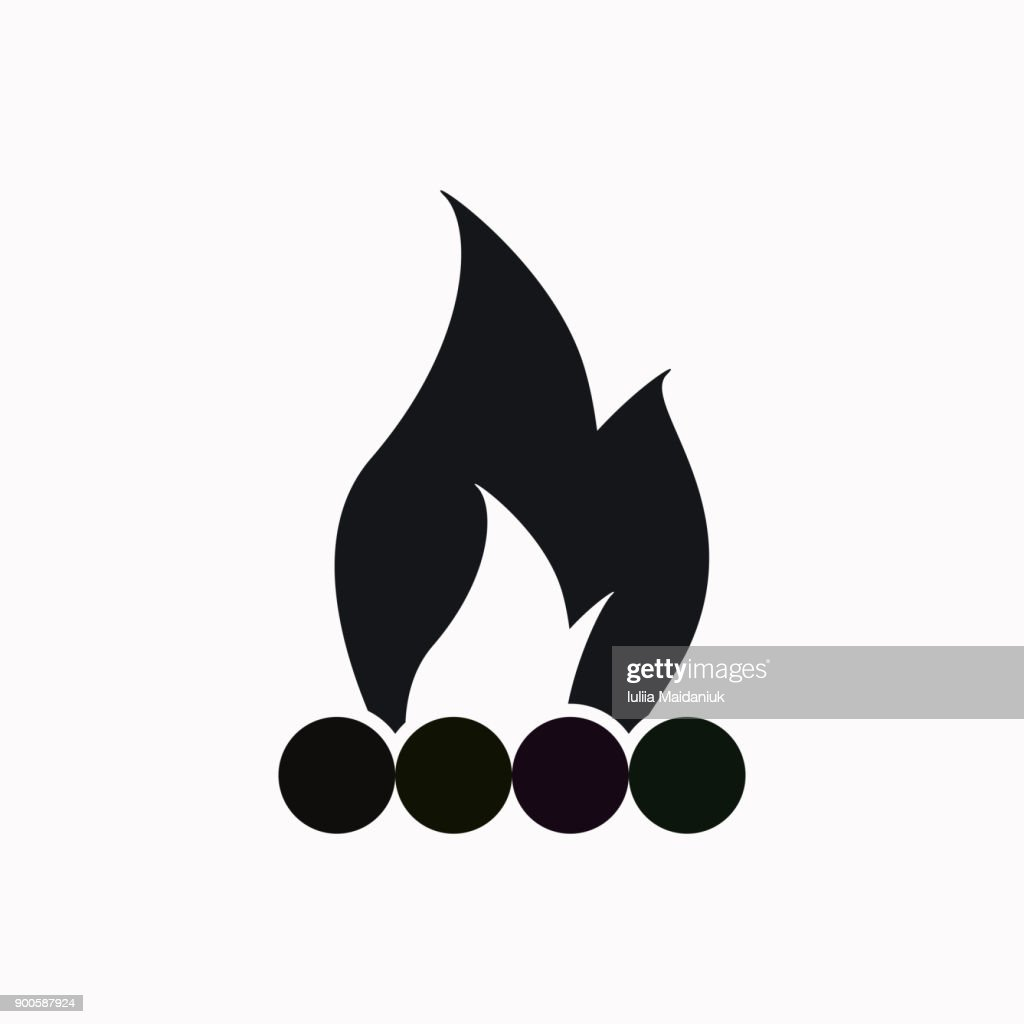 Bonfire vector  icon.