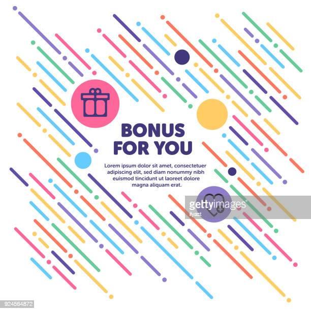 ilustraciones, imágenes clip art, dibujos animados e iconos de stock de bono para le banner - incentive