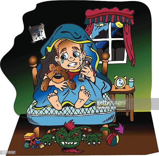boogyman phobia!!! - phobia stock illustrations, clip art, cartoons, & icons