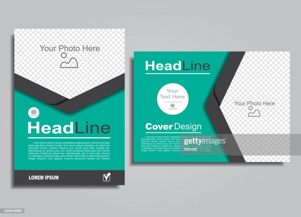 Book album brochure flyer design template. Vector illustration.