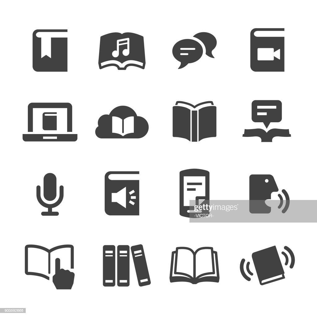 Libro y ebook iconos - serie Acme : Ilustración de stock