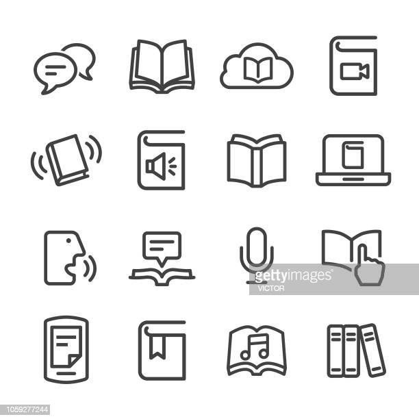 Book and ebook Icons - Line Series