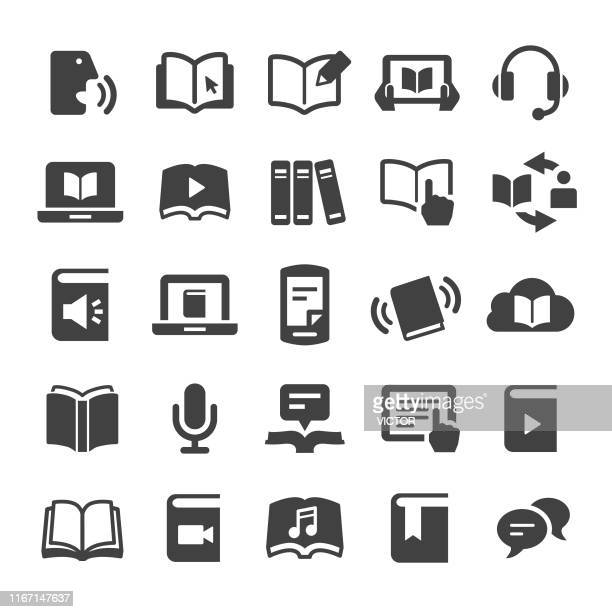 book and ebook icons - smart series - reading stock illustrations