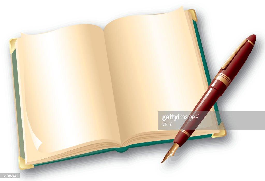 Book And Pen Vector Art