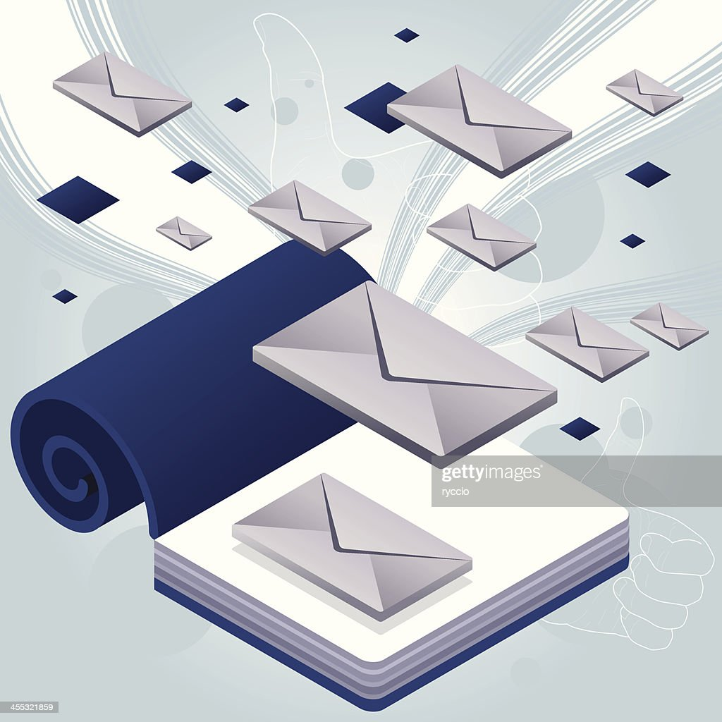 Book e-mail storm : stock illustration