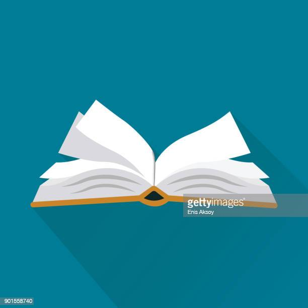 book flat icon - open stock illustrations
