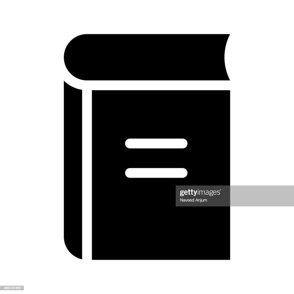 book Glyphs Vector Icon